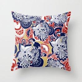 Wooden Peacock Throw Pillow