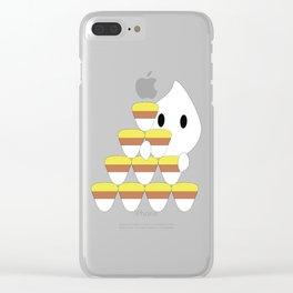 Peekaboo Ghost Clear iPhone Case