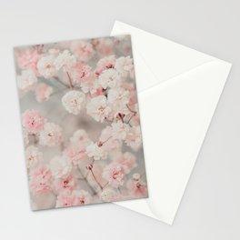 Gypsophila pink blush Stationery Cards