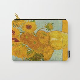 Sunflowers Oil Painting By Vincent van Gogh Carry-All Pouch