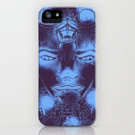 Malek by the tree with Serpent, Blue iPhone Case