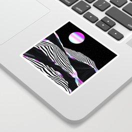 Stripes Mountains Sticker