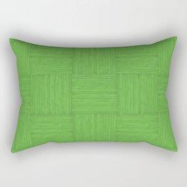 Green Faux Bois Wood Pattern Rectangular Pillow