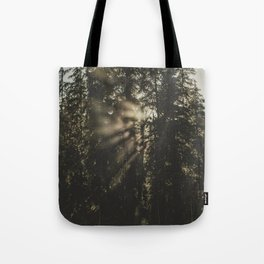 Sunset in the Woods - Nature Photography Tote Bag