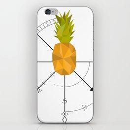 Pineapple Compass iPhone Skin