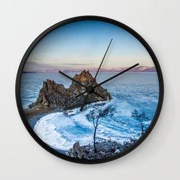 Shaman Rock on Olkhon Island, Baikal Wall Clock