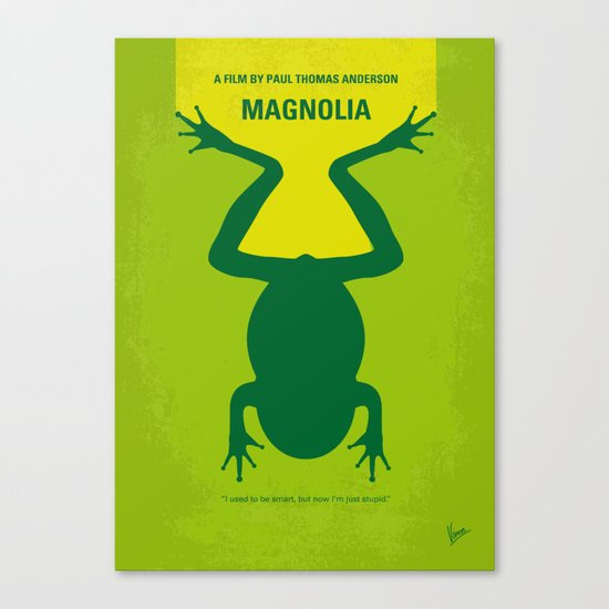 No159 My MAGNOLIA minimal movie poster Canvas Print