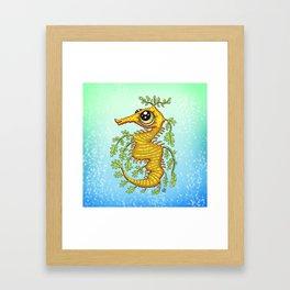 Happy Leafy Sea Dragon Framed Art Print