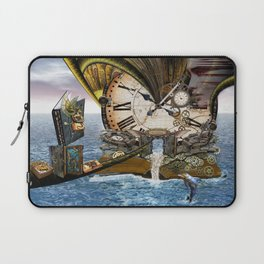 Steampunk Ocean Dragon Library Laptop Sleeve