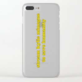 KYLIE FOR HUMANITY Clear iPhone Case
