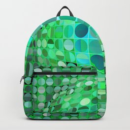Optical Illusion Sphere - Green Backpack