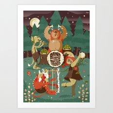 A Band of Trolls Art Print
