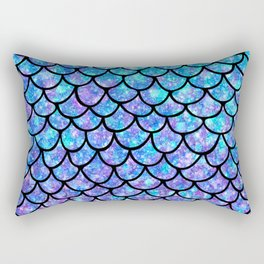 Purples & Blues Mermaid scales Rectangular Pillow