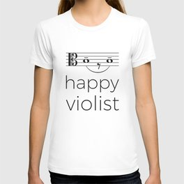 Happy violist (light colors) T-shirt