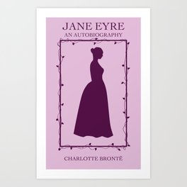 Purple Jane Eyre Book Cover Art Print