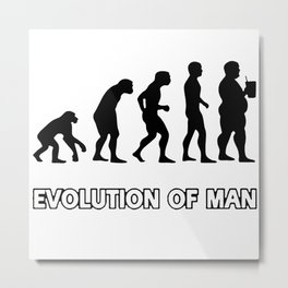 evolution man beer Metal Print