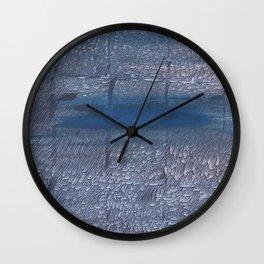 Gray-blue watercolor Wall Clock