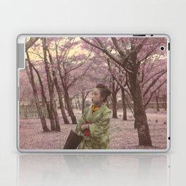 Geisha among Cherry Blossom trees Laptop & iPad Skin