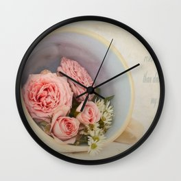 Cup of Diamonds  Wall Clock