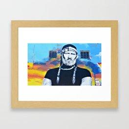 GRAFFITI WILLIE NELSON By Jeff Brewster Framed Art Print