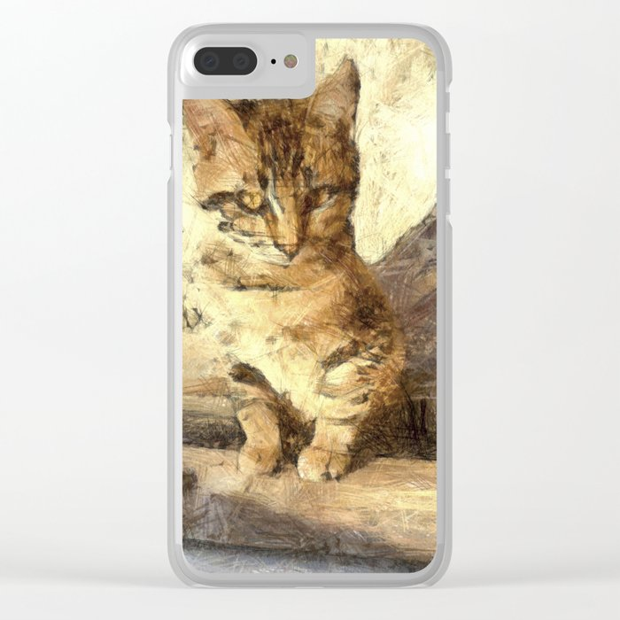 All Cats Are Black In The Dark Clear iPhone Case