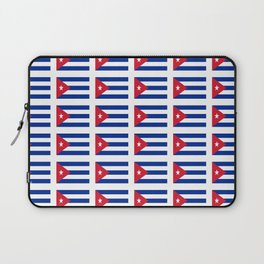 Flag of Cuba 4 -cuban,havana,guevara,che,castro,tropical,central america,spanish,latine Laptop Sleeve