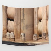 buddhism Wall Tapestries featuring Buddhism ancient place in Sanchi by Four Hands Art