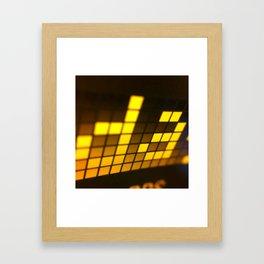 Digital readout Framed Art Print