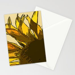 Yellow sunflower painting sketched Stationery Cards