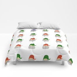 Gnome pattern - tribe of tomtes Comforters