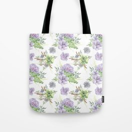 Desert Succulents Purple and Green Tote Bag