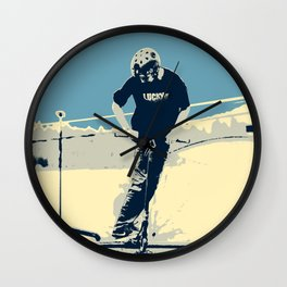 On the Rim - Scooter Boy Wall Clock