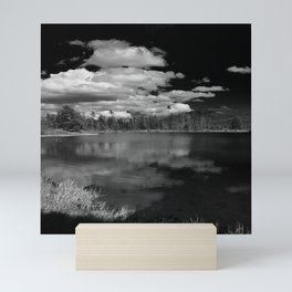 Sprague Lake under Clouds Mini Art Print