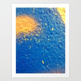 Spilt Oranges Art Print