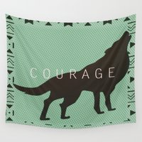 courage Wall Tapestries featuring Courage by Laura Santeler