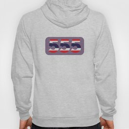 555 in the colors of the Thai flag Hoody