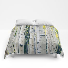 Aspen Forest Tree Bark Comforters