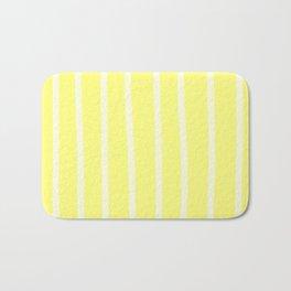 Butter Vertical Brush Strokes Bath Mat