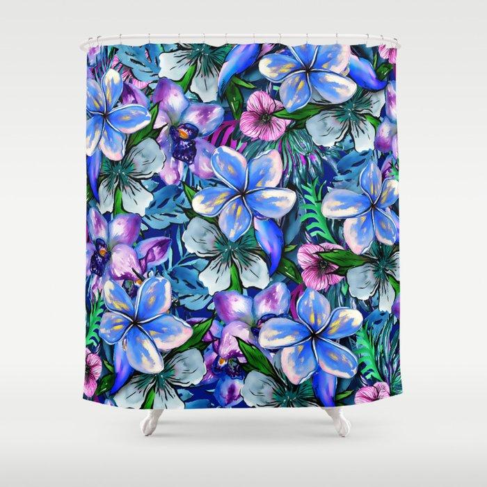 My Tropical Garden 5 - variation Shower Curtain