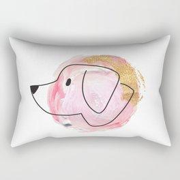 WatercolorGoldDog Rectangular Pillow
