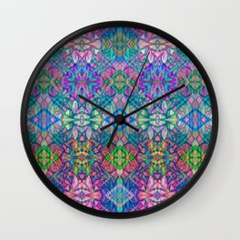Fractal Art Stained Glass G375 Wall Clock