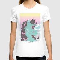 sea horse T-shirts featuring SEA HORSE by MujerCiervo