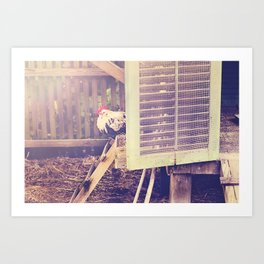 Rooster! Art Print