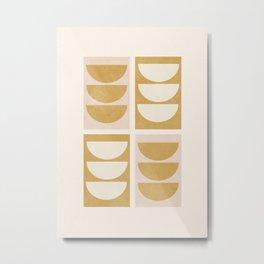 Minimal Geometric 55 Metal Print