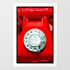 OLD PHONE - RED EDITION - for iphone Art Print