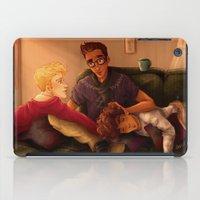 enjolras iPad Cases featuring Triumvirate by FlockeInc