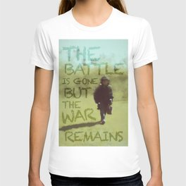 The War Remains - painting by Brian Vegas T-shirt