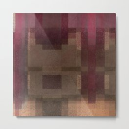 Red and Brown Abstract Metal Print