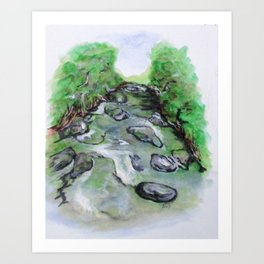 Sugar Creek, Boyhood Memory Art Print