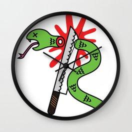 Kill Snakes Wall Clock